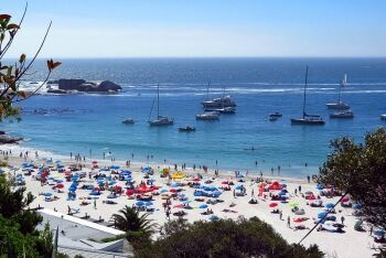 Yachts at Clifton beach, Atlantic Seaboard, Cape Town