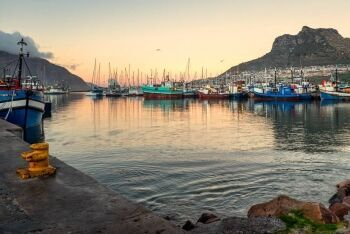 Hout Bay harbour,  Cape Town\'s Atlantic Seaboard, Western Cape